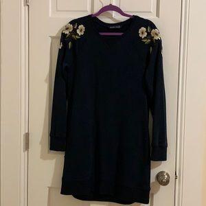 A&F size M floral sweater dress